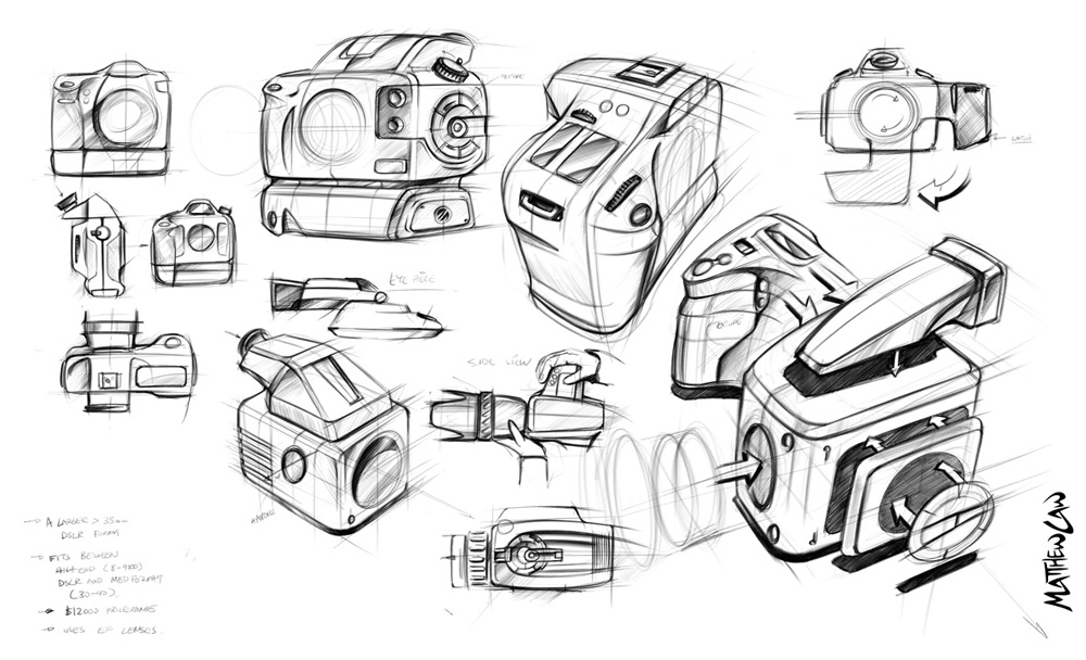 Design Sketches Camera Product Sketch Coloring Page